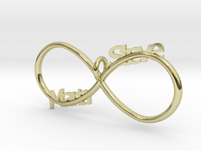 Infinity (Personalize) in 18k Gold Plated Brass