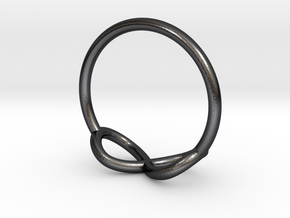 Ring Infinity in Polished and Bronzed Black Steel