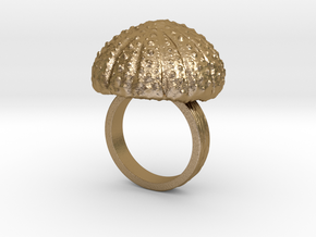 Urchin Statement Ring - US-Size 7 1/2 (17.75 mm) in Polished Gold Steel