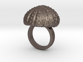Urchin Statement Ring - US-Size 6 (16.51 mm) in Polished Bronzed Silver Steel
