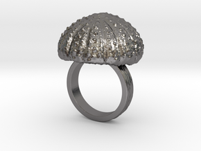 Urchin Statement Ring - US-Size 7 (17.35 mm) in Polished Nickel Steel