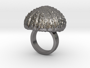 Urchin Statement Ring - US-Size 3 1/2 (14.45 mm) in Polished Nickel Steel