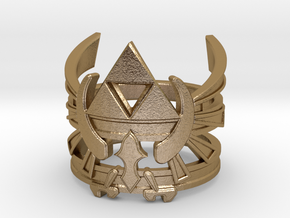 Triforce ring - Zelda - medium sizes (15 to 22) in Polished Gold Steel