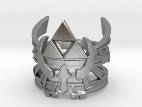 Triforce ring - Zelda - medium sizes (15 to 22) in Raw Silver