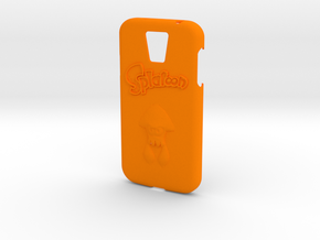 Galaxy S4 Splatoon Case (speaker to front) in Orange Processed Versatile Plastic
