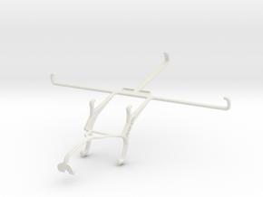 Controller mount for Xbox 360 & Lenovo ideapad MII in White Natural Versatile Plastic