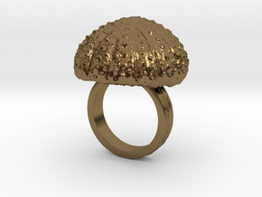 Urchin Statement Ring - US-Size 6 (16.51 mm) in Polished Bronze