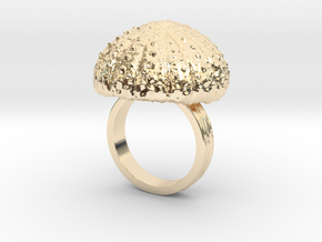Urchin Statement Ring - US-Size 7 1/2 (17.75 mm) in 14k Gold Plated Brass