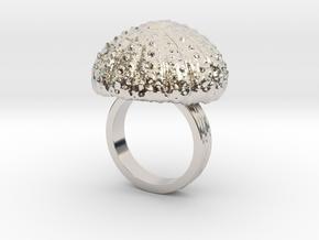 Urchin Statement Ring - US-Size 7 (17.35 mm) in Rhodium Plated Brass