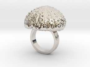 Urchin Statement Ring - US-Size 4 1/2 (15.27 mm) in Rhodium Plated Brass