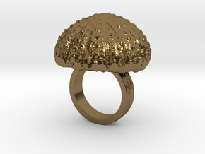 Urchin Statement Ring - US-Size 3 1/2 (14.45 mm) in Polished Bronze