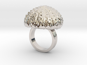 Urchin Statement Ring - US-Size 5 (15.7 mm) in Rhodium Plated Brass