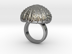 Urchin Statement Ring - US-Size 6 (16.51 mm) in Fine Detail Polished Silver