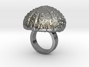 Urchin Statement Ring - US-Size 2 1/2 (13.61 mm) in Fine Detail Polished Silver