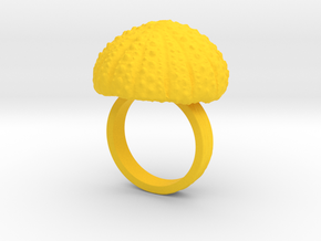 Urchin Statement Ring - US-Size 7 1/2 (17.75 mm) in Yellow Processed Versatile Plastic