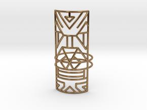 Giant Warrior ring Medium in Natural Brass