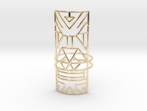 Giant Warrior ring Medium in 14k Gold Plated Brass