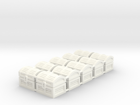 Wiz-War Chest tokens (10 pcs) in White Strong & Flexible Polished
