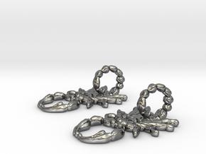 SCORPO earrings in Fine Detail Polished Silver