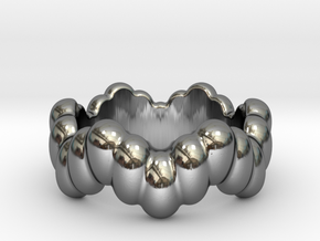 Biological Ring 15 - Italian Size 15 in Fine Detail Polished Silver