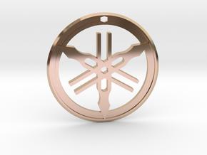 Yamaha Keychain in 14k Rose Gold Plated Brass