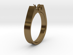Design Ring For Diamond Ø19 Mm US Size 9 in Polished Bronze