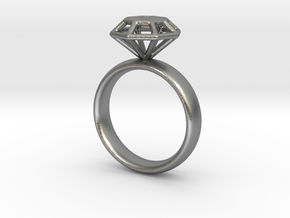 Diamond Ring in Natural Silver: 6.25 / 52.125
