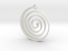 KORU earring in White Natural Versatile Plastic