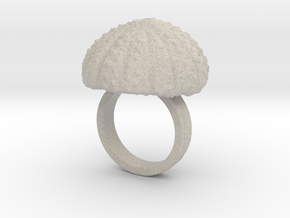 Urchin Statement Ring - US-Size 6 (16.51 mm) in Natural Sandstone