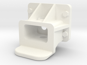 "3/4"" Scale Pilot Coupler Pocket in White Processed Versatile Plastic"