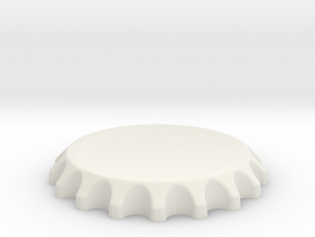 Bottle Top Spin Station 3D Print in White Natural Versatile Plastic