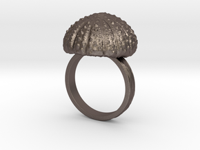 Urchin Statement Ring - US-Size 13 (22.33 mm) in Polished Bronzed Silver Steel