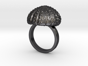 Urchin Statement Ring - US-Size 11 (20.68 mm) in Polished and Bronzed Black Steel
