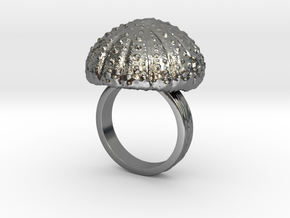 Urchin Statement Ring - US-Size 8 1/2 (18.53 mm) in Fine Detail Polished Silver
