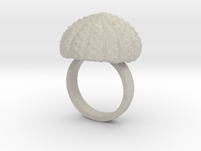 Urchin Statement Ring - US-Size 9 (18.89 mm) in Natural Sandstone
