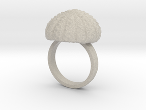 Urchin Statement Ring - US-Size 11 1/2 (21.08 mm) in Natural Sandstone