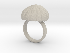 Urchin Statement Ring - US-Size 10 (19.84 mm) in Natural Sandstone