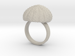 Urchin Statement Ring - US-Size 10 1/2 (20.20 mm) in Natural Sandstone
