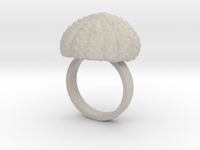 Urchin Statement Ring - US-Size 9 1/2 (19.41 mm) in Natural Sandstone