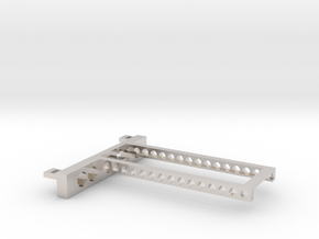 G751 M.2 Bracket With Holes 2 drives open top in Rhodium Plated Brass