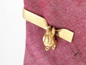 Falling Rabbit Tie Bar in Polished Brass