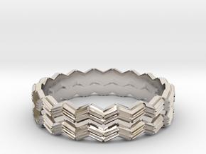 Crystallization ring (Japan 14,America 7.5,Britain in Rhodium Plated Brass