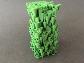 Cone Forest in Green Processed Versatile Plastic