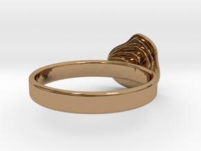 Gold Mine ring - UK N (inside diameter 17.2mm) in Polished Brass