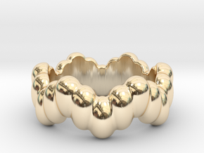 Biological Ring 18 - Italian Size 18 in 14K Yellow Gold