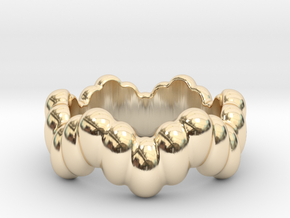 Biological Ring 20 - Italian Size 20 in 14k Gold Plated Brass