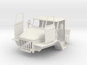 BM-21 MLRS 1 18 Front in White Natural Versatile Plastic