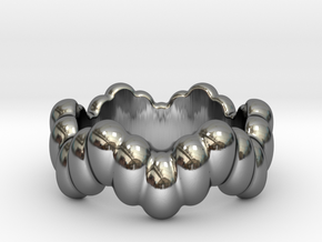 Biological Ring 22 - Italian Size 22 in Fine Detail Polished Silver