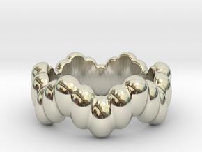 Biological Ring 24 - Italian Size 24 in 14k White Gold
