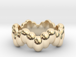 Biological Ring 24 - Italian Size 24 in 14k Gold Plated Brass